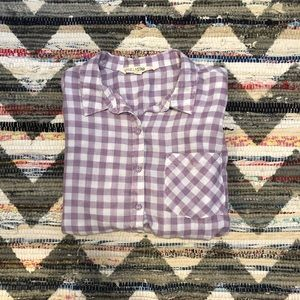 Vanilla Star Lavender Gingham Burton Down Shirt